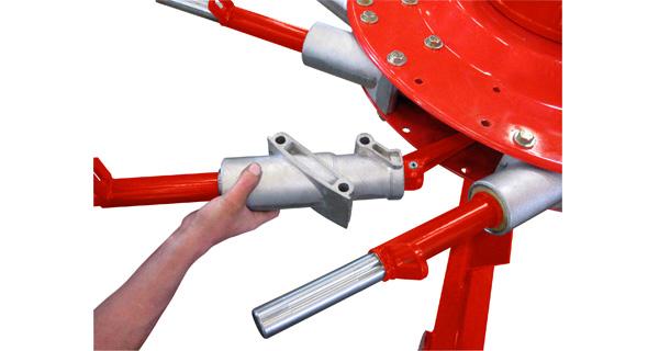 Ogni braccio può essere smontato e riparato singolarmente.