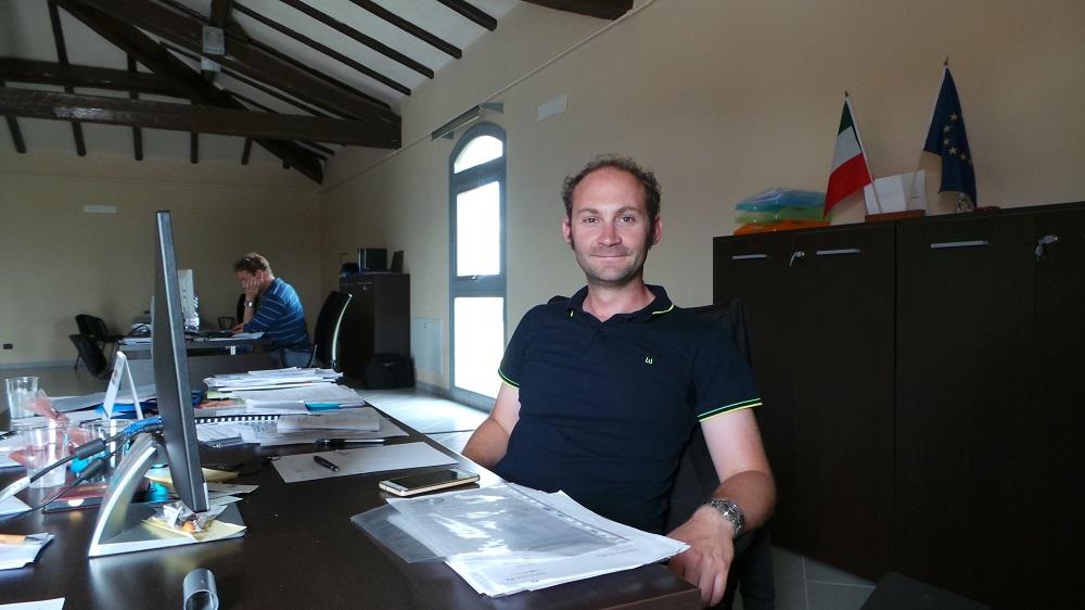 Daniele Monti, che coordina le attività agricole e di produzione energetica alla cooperativa Agribologna.